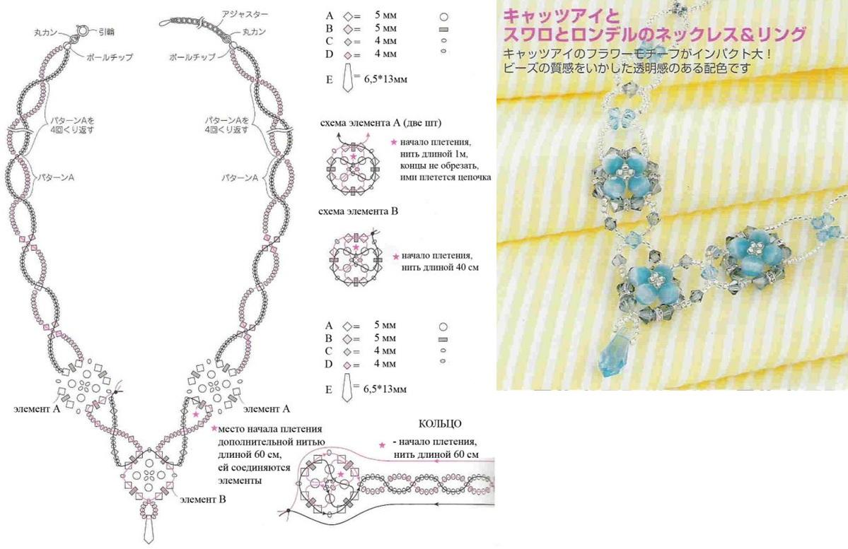 Ожерелье из бисера своими руками схемы для