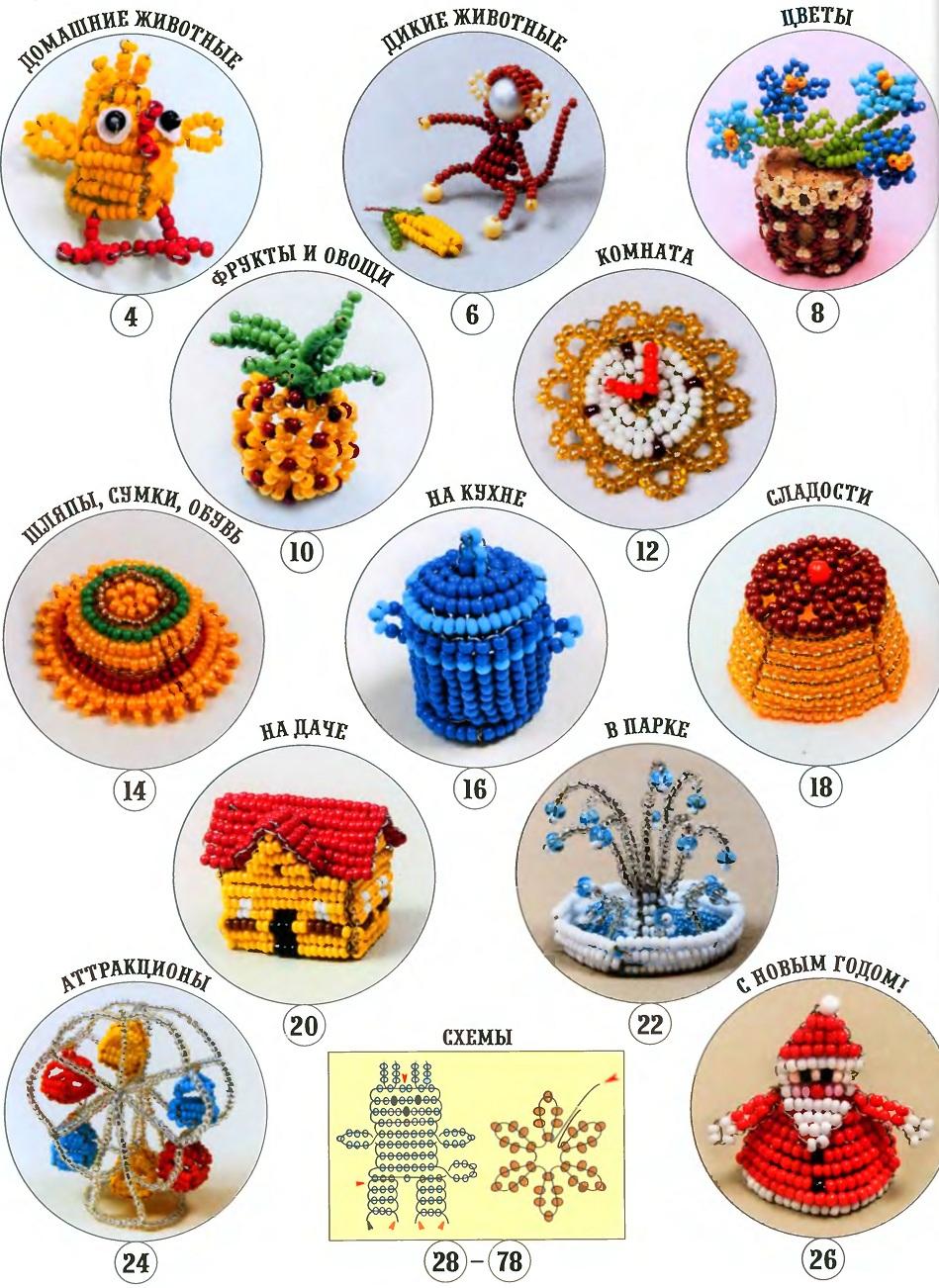 Схемы игрушки из бисера