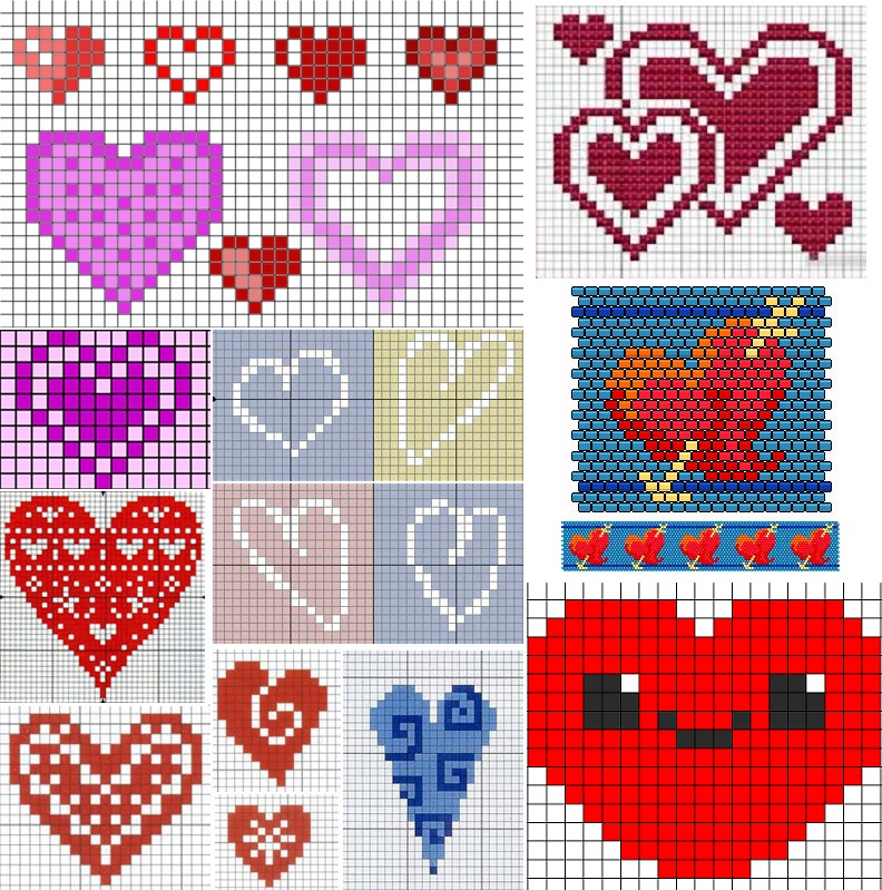 Схема фенечка с сердцем