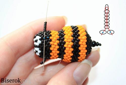 плетение пчелы